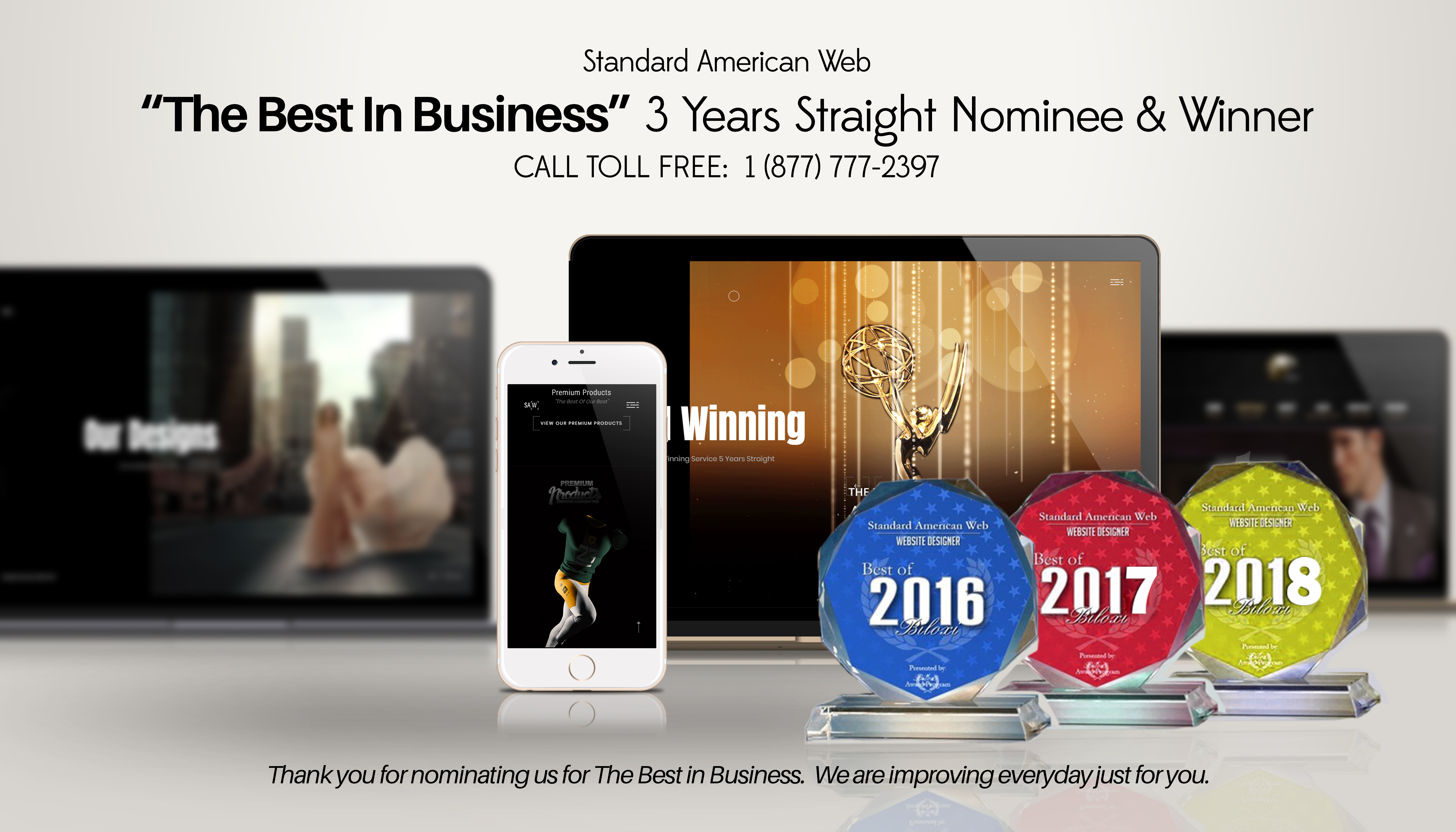 If You Are Looking For The Best In Web Design Then Standard American Web May Be The Company You Have Been Looking For.  Here Is How To Reach Us.    FINANCING AVAILABLE.